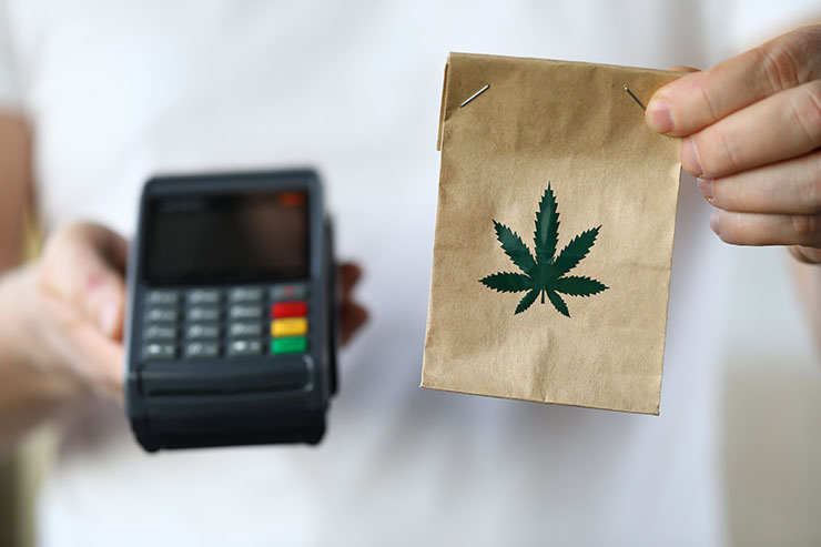 A payment transaction of legal cannabis