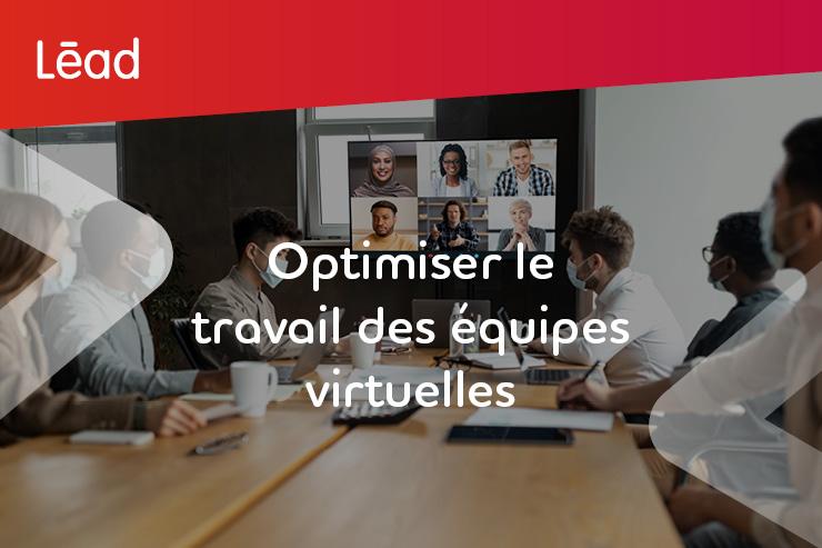 Optimiser le travail des équipes virtuelles. Les travailleurs portant des masques faciaux au bureau se réunissent en ligne avec leurs collègues distants.