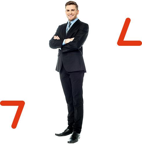 confident professional arrows