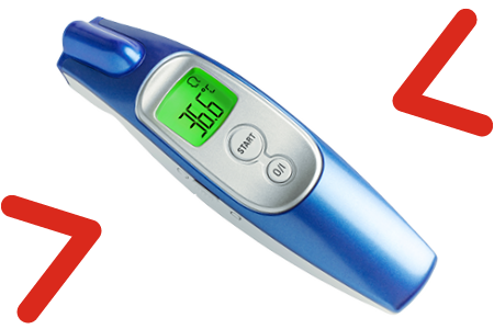 infrared thermometer screen arrows