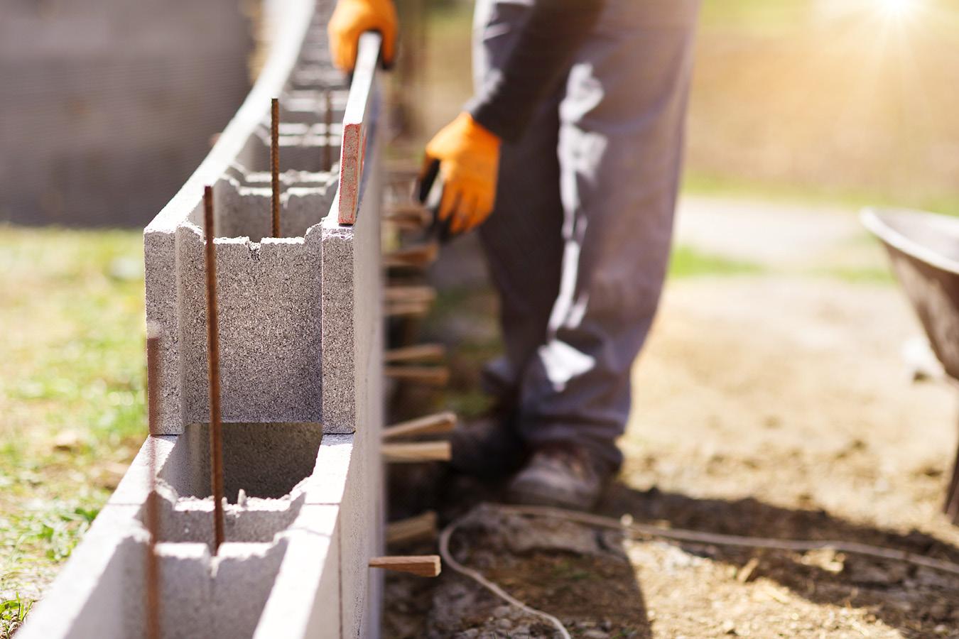 Skilled trades construction brick laying