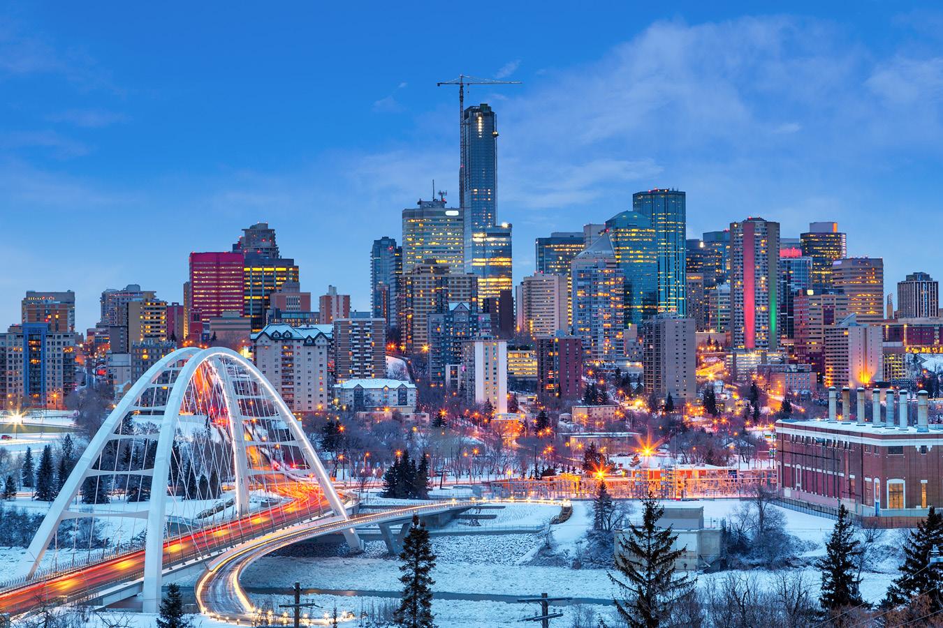 Edmonton night Walterdale Bridge