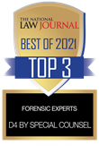 The National Law Journal Best of 2021 Top 3 Forensic Experts: D4 by Special Counsel
