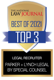 The National Law Journal Best of 2021 Top 3 Legal Recruiter: Parker + Lynch Legal by Special Counsel
