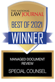 The National Law Journal Best of 2021 Winner Managed Document Review: Special Counsel