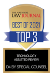 The National Law Journal Best of 2021 Top 3 Technology Assisted Review: D4 by Special Counsel